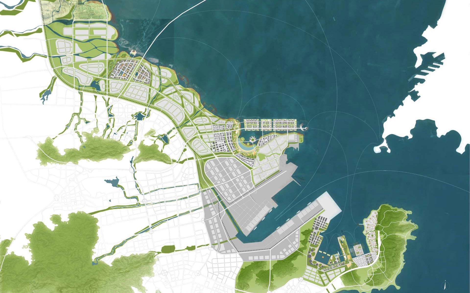青岛黄岛石化区及周边区域