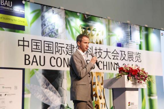 OBERMEYER at BAU congress China 2016 Mr. Knabe at his presentation
