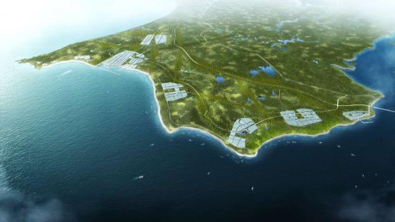 OBERMEYER Hainan Wenchang Mulan Bay Urban Design Aerial