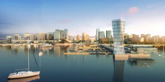 OBERMEYER Hainan Wenchang Mulan Bay Urban Design Low Aerial