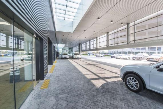 OBERMEYER Porsche dealership Shanghai Entrance Area