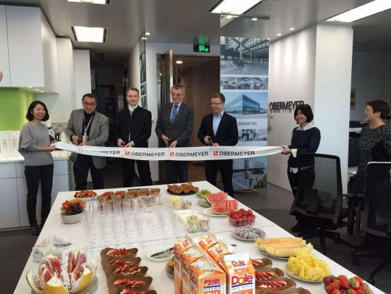 OBERMEYER Shanghai Office Relocation, Ribbon cutting Ceremony