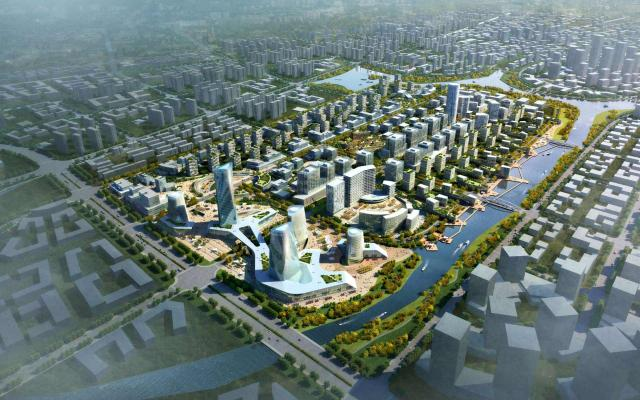 OBERMEYER - Qingdao high tech creative city brids eye view