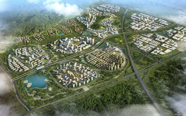 Qingdao Sino German Eco Park Birdview Perspective